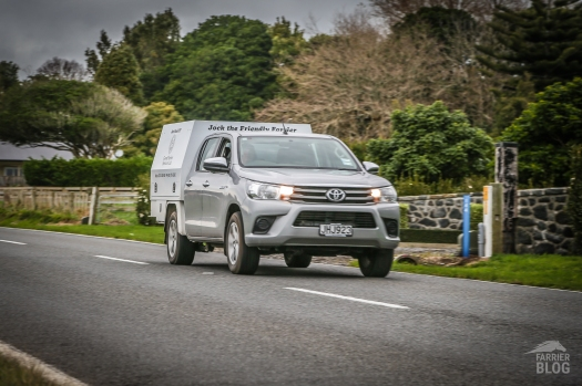 On the road Good Farrier Services covers the entire Taranaki region